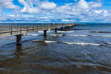 Die Seebrücke in Ahlbeck auf der Insel Usedom von Rico Ködder