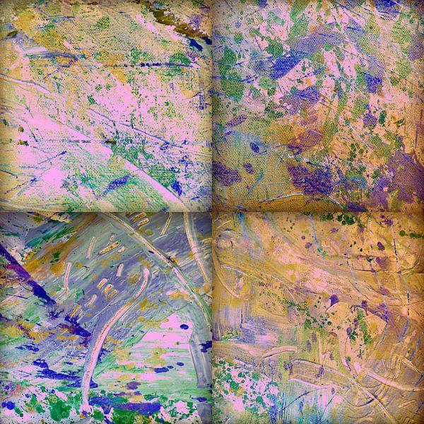 Abstracte verf structuren in verschillende tinten van Eva van den Hamsvoort