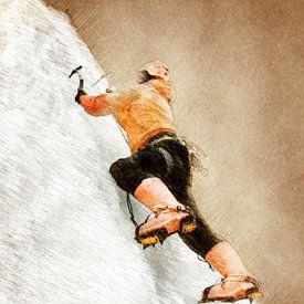 Bergsteiger Klettern Sport Kunst #Bergsteiger #Klettern #Sport von JBJart Justyna Jaszke
