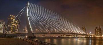 Een Panorama van de Erasmusbrug met mist RawBird Photo's Wouter Putter van Rawbird Photo's Wouter Putter
