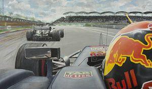 Max Verstappen  versuch zu bestehen Lewis Hamilton  von