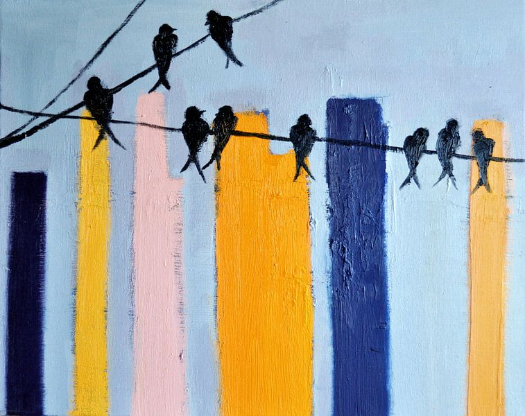 Birds in the city van Maria Kitano