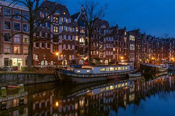 Brouwersgracht blauwe uur, Amsterdam van Aldo Sanso