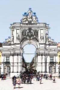 De Arco da Rua Augusta in Lissabon, van Berthold Werner