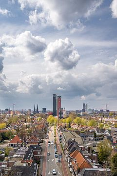 Skyline von Tilburg - stehend von Henri Boer Fotografie