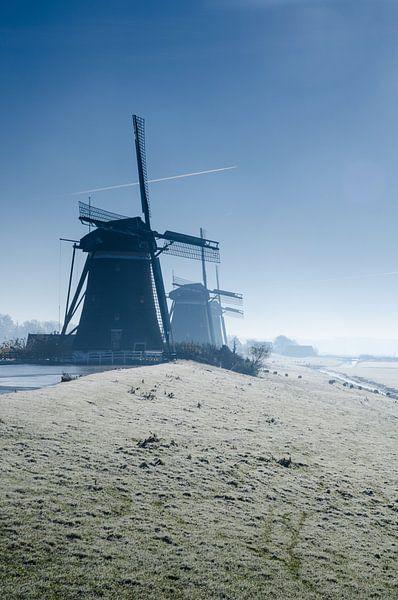 Winterochtend - De Molendriegang in Leidschendam van Ricardo Bouman