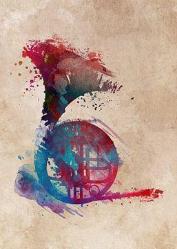 Waldhorn 4 Musik Kunst #Waldhorn #Musik von JBJart Justyna Jaszke