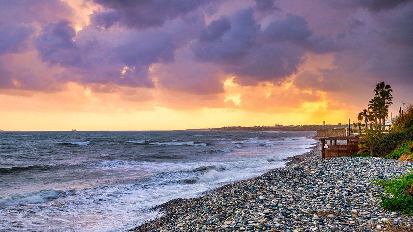 Sunset op Cyprus van Adelheid Smitt