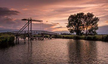 Brug over het Afwateringskanaal Schildwolde van Marga Vroom