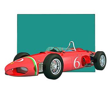 Klassieke auto – Oldtimer Ferrari 156 Shark Nose 1961