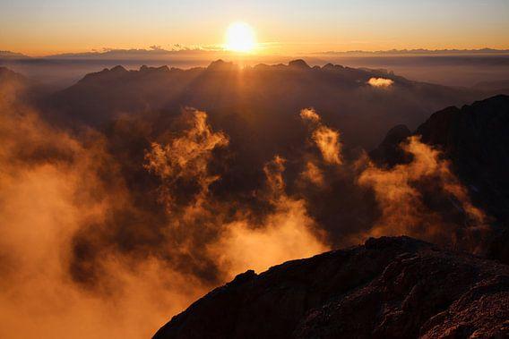 Zonsondergang op de Marmolada