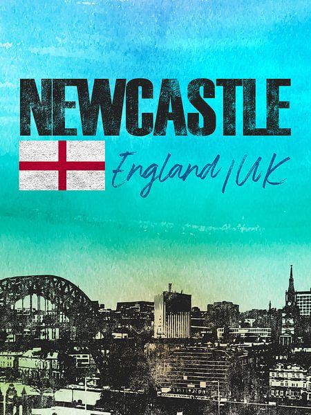Newcastle Engeland van Printed Artings