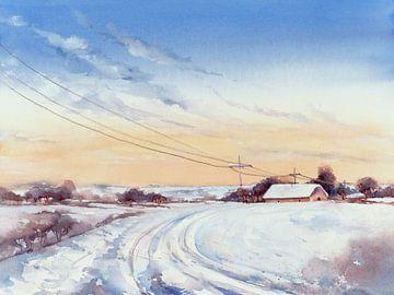 Spuren im Schnee von Jitka Krause