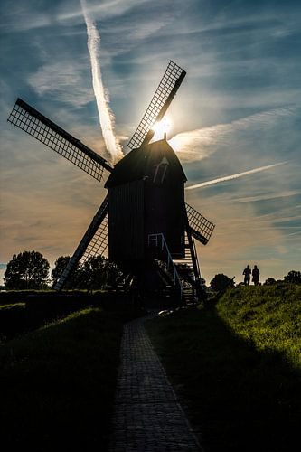 Molen silhouet in Heusden