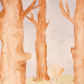Peinture à l'aquarelle sur canard pour les enfants Rubbeldiduck sur Beate Gube