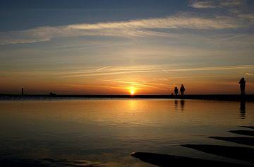 Zonsondergang bekijken von Klaas Heiligenberg