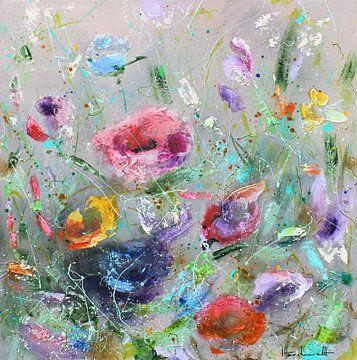 Wild flowers I van Atelier Paint-Ing