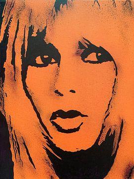 Brigitte Bardot - BB von Kathleen Artist Fine Art