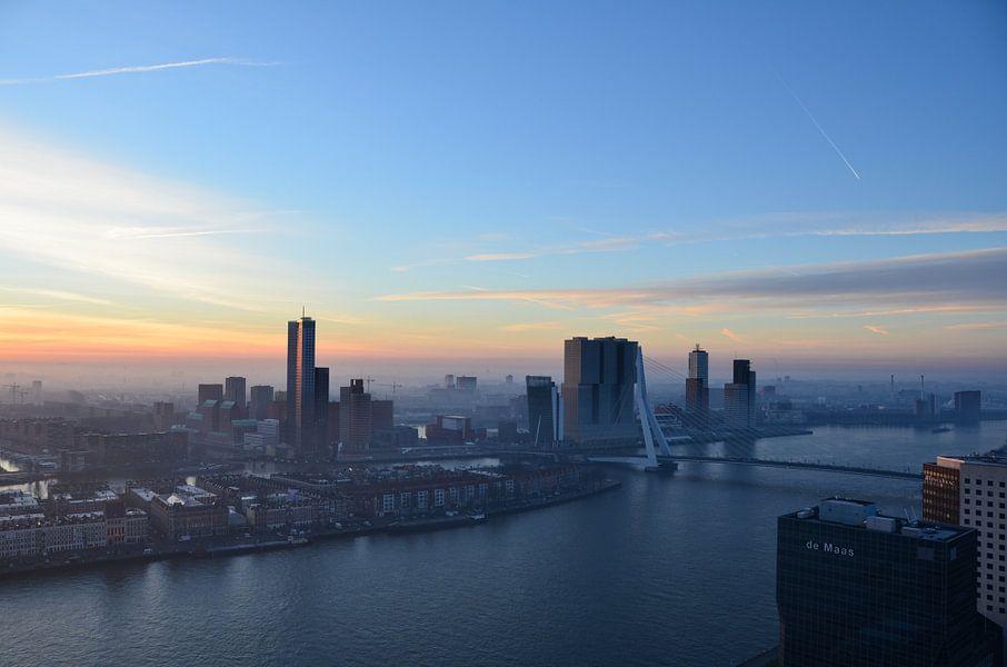 Vroege winterochtend in Rotterdam