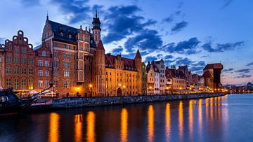 Gdansk bij Avond, Polen van Adelheid Smitt