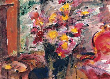 Lovis Corinth-Flower Vase on a Table, 1922