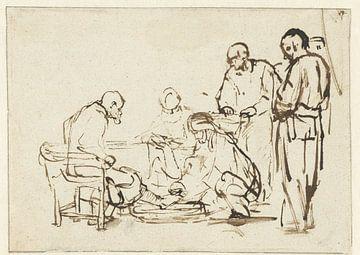 Fußwaschung, Rembrandt van Rijn