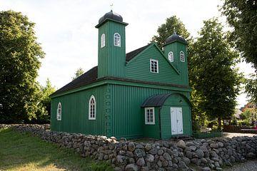 houten moskee van de Tartar in het oosten van Polen van Eric van Nieuwland