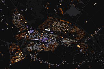 Kaart van Steenwijk abstract von Stef Verdonk