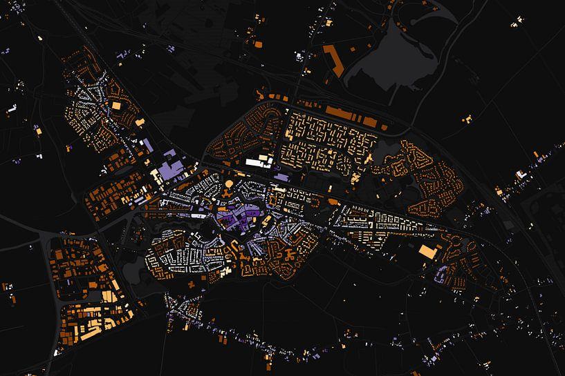 Kaart van Steenwijk abstract van Stef Verdonk
