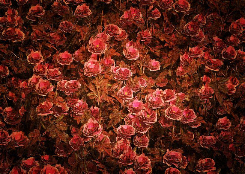 Rozen - Roze Bionica-rozen van Jan Keteleer