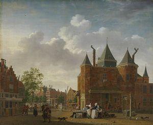 Amsterdam schilderij De Sint-Antoniuswaag in Amsterdam