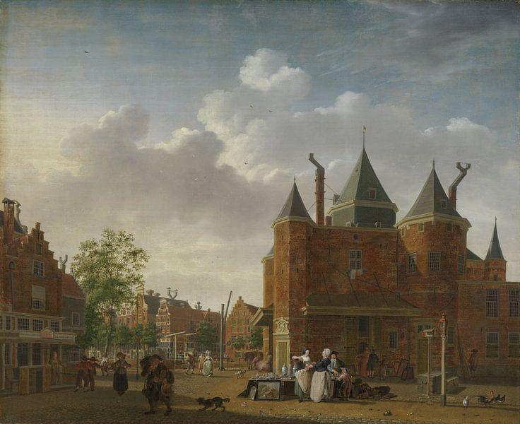 Amsterdam schilderij De Sint-Antoniuswaag in Amsterdam van Schilderijen Nu