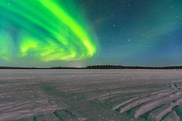 nordlicht in fins lappland mit alt und neu 2019/2020 von Kevin Pluk