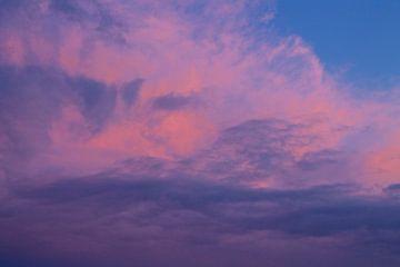 Schilderachtige avondlucht boven Terschelling van Berthilde van der Leij