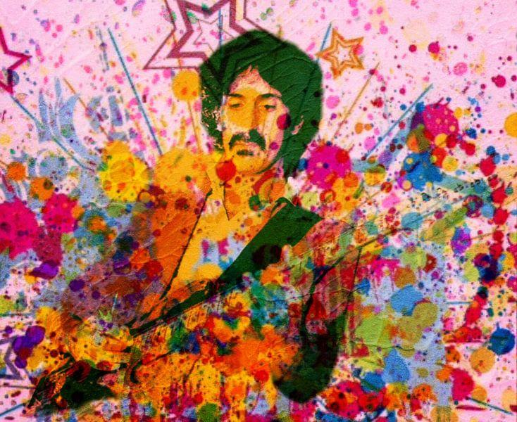 Frank Zappa Mega Splash Pop Art PUR van Felix von Altersheim