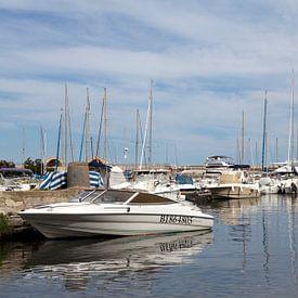 De haven van Bastia, op Corsica van Kees van Dun