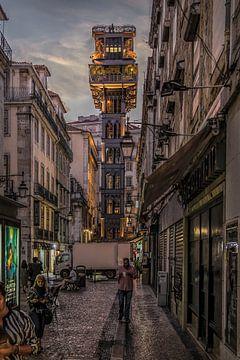 Lissabon 5 - Rua de Santa Justa van Michael Schulz-Dostal