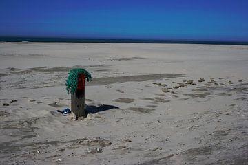 Strandpaal, Terschelling von Dirk Veenhuis