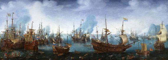 Cornelis Claesz. Van Wieringen, Zeeslag bij Gibraltar - 1622
