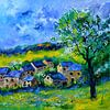 Village au printemps von pol ledent Miniaturansicht