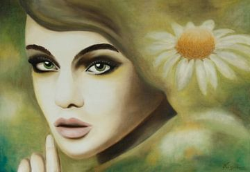 Flower Lady von anja verbruggen