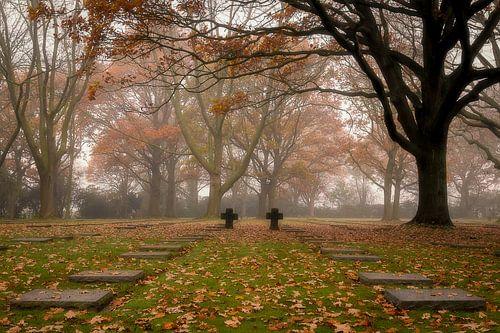 het duits kerkhof in Menen