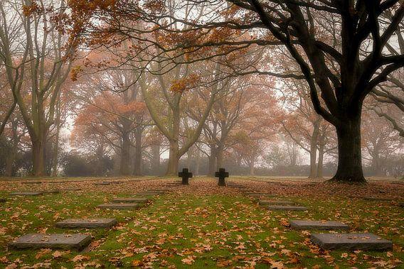 het duits kerkhof in Menen van Krist Hooghe