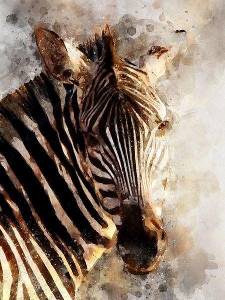 Zebra Print Behang.Zebra Van Printed Artings