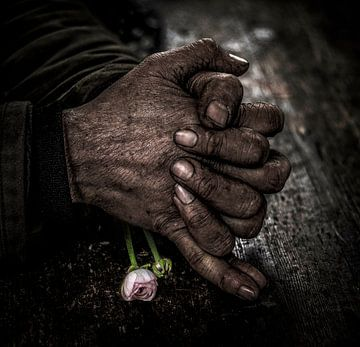 gevouwen handen van