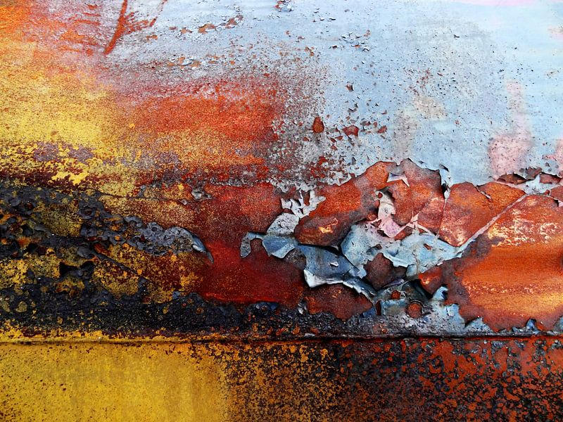 De Kleuren Van Roest - abstracte fotografie van Nicole Schyns