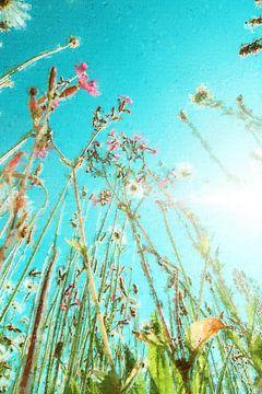 Feld Blumenstrauß gegen einen blauen Himmel (Gemälde)