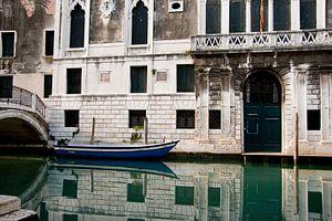 Typical venetian canal van