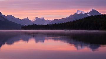 Maligne Lake, Jasper National Park, Alberta, Canada van Alexander Ludwig