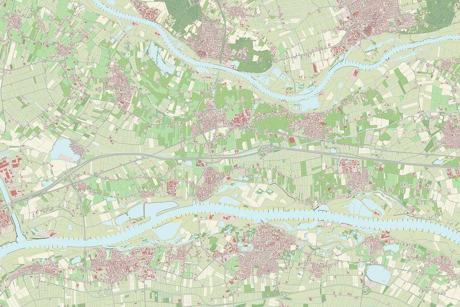 Kaart vanNeder-Betuwe